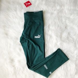 NWT Puma forest green leggings Sz M